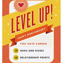 "Gift furniture ""Level Up Anniversary"" Love Card (Set of 6)"