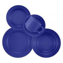 Kitchen furniture 20 Piece Blue Donna Dinnerware Set
