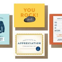 Gift furniture Assorted Mix Thank You Cards (Set of 4)