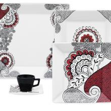 Kitchen furniture 12 Piece Quartier Dinnerware Set, Boho Chic