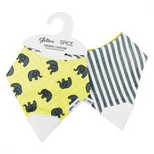 Gift furniture Double Sided Organic Chew Bib, Elephant/Oxford