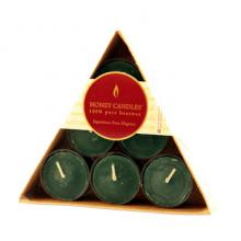 Candles furniture Gift Pack 6 Triangle Tealights 6 Green
