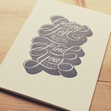 Gift furniture Holstee- Greeting Card Ryan Hamrick - Getting lost will help you find yourself