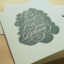 Gift furniture Holstee- Greeting Card Ryan Hamrick - Life is short