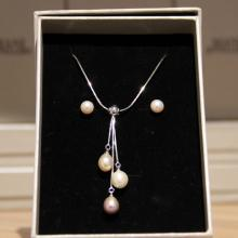 Mani Jewellery- Amelie  Pearl Set with Necklace and Earing
