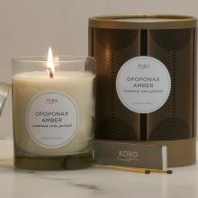 Gift furniture Kobo Soy Candles- Oponax Amber