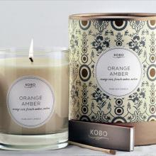 Gift furniture Kobo Soy Candles- Orange Amber