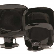 Kitchen furniture Karim Rashid Collection- Shift Line- 9304 Black 20 pieces Dinner and Tea Set