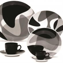 Kitchen furniture Karim Rashid Collection- Loop Line-30 pieces Dinner and Tea Set