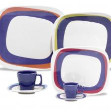 Kitchen furniture Karim Rashid Collection- Shift Line- 9332 Koil 20 pieces Dinner and Tea Set