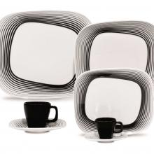 Kitchen furniture Karim Rashid Collection- Shift Line- 9331  Wisk 30 pieces Dinner and Tea Set