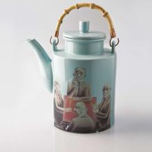 Kitchen furniture Piling Palang- Lao Yu- Tea Pot with Gentlemen smoking