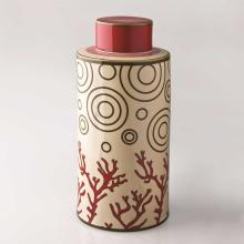 Living Room furniture Piling Palang- Retro Expo- Round Tea Caddy with Coral Pattern