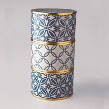 Living Room furniture Piling Palang- Tiffins Box- Round Tiffin box with Floral and lattice pattern