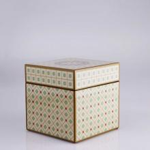 Living Room furniture Piling Palang- Piling Palang- Retro Expo-  Square Box with HUI Pattern Pearl with Blue Diamond