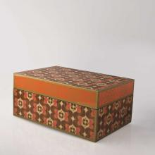 Living Room furniture Piling Palang- Retro Expo- Rectangular Box with Brown Peonies